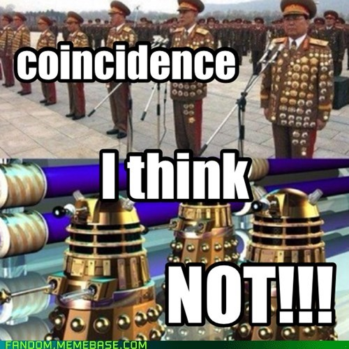daleks North Korea doctor who - 7405147904