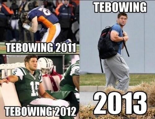 in the news sports tim tebow tebowing