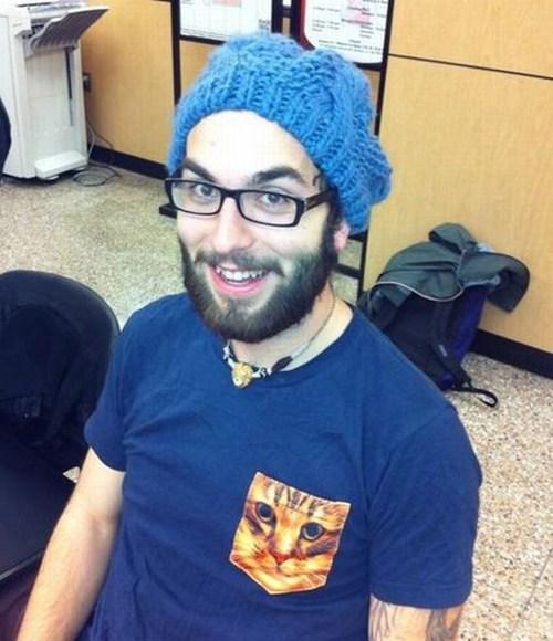 cat pocket shirt funny - 7405283328
