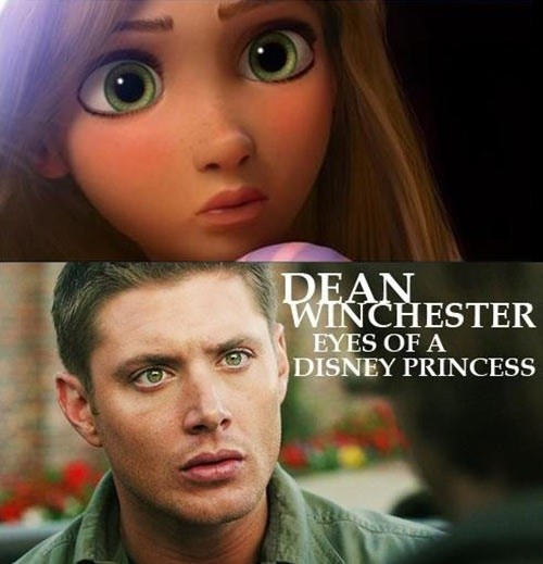 disney princesses Supernatural dean winchester - 7405634304
