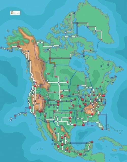 Canada Pokémon regions mexico north america Maps