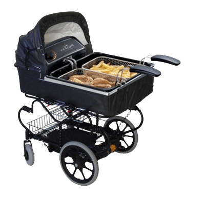 wtf,deep frier,baby carriage,stroller