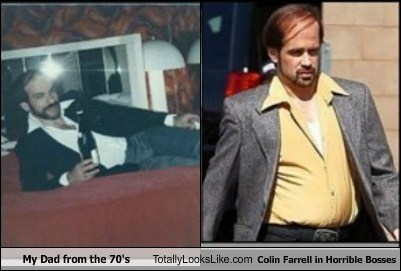awesome,colin farrell,combover,totally looks like,my dad