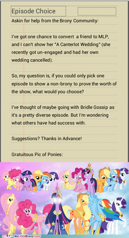 Bronies,decisions,a centerlot wedding,bridle gossip