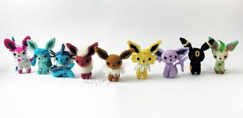 crochet art eeveelutions - 7407556352