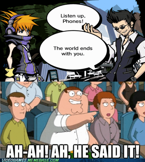 family guy self referential the world ends with you video games - 7407977984