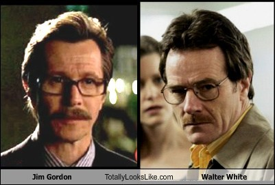 jim gordon,walter white,totally looks like