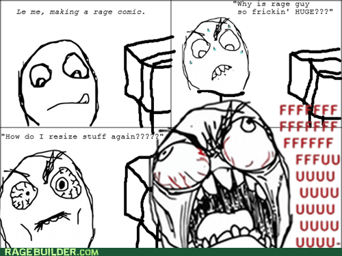 rage guy making rage comics - 7409720576