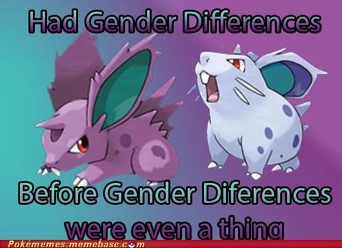 nidoran,Pokémon,genders