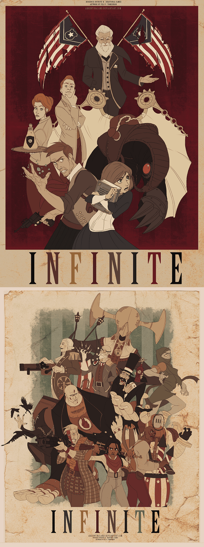 art bioshock infinite anime video games - 7410538752
