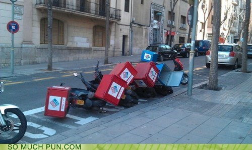 fallen over dominos bikes - 7410864640