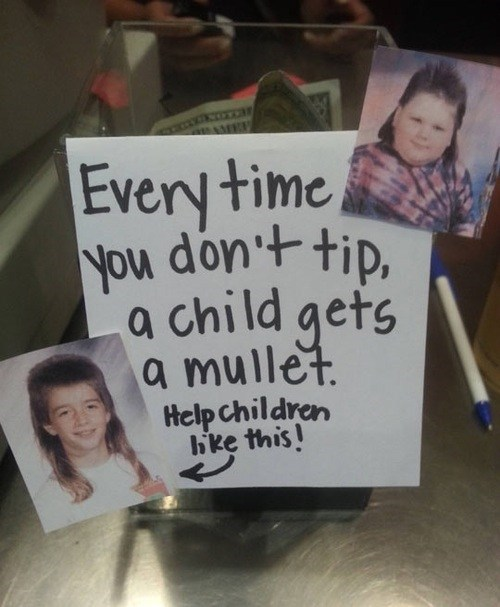 mullets,tip jar