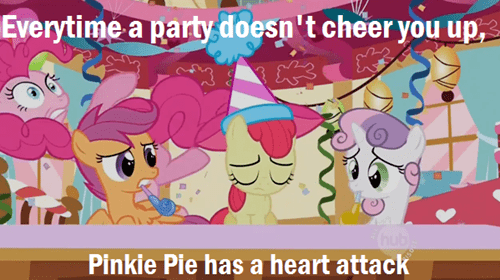 heart attacks,pinkie pie,parties