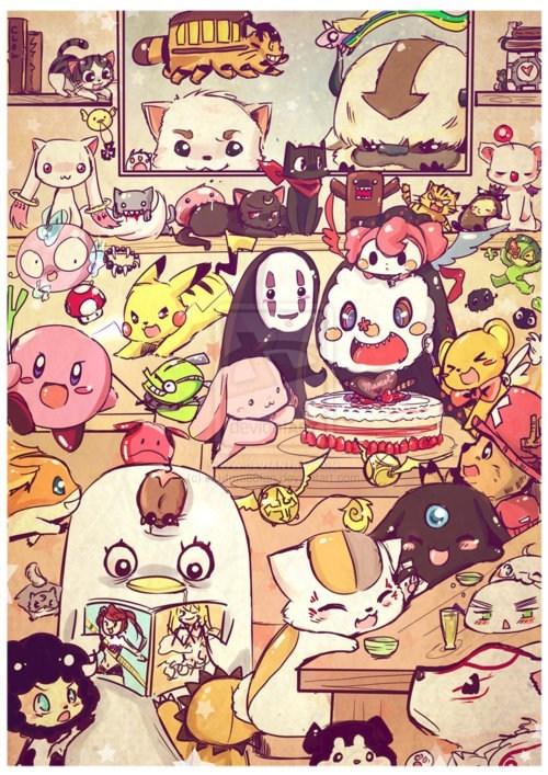 crossover anime Fan Art - 7411184896