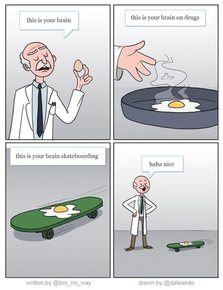 skateboarding drugs brains eggs - 7411281920