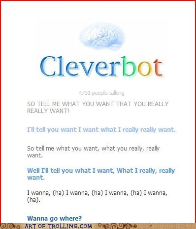 spice girls,wannabe,Cleverbot