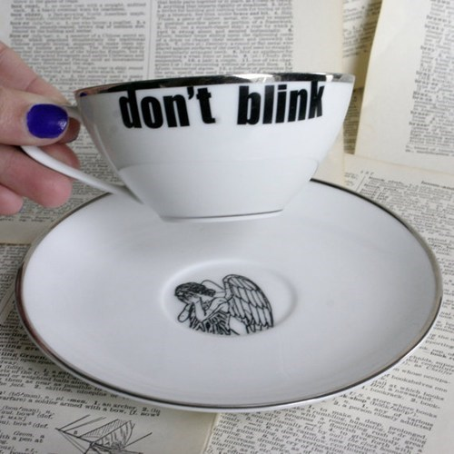 weeping angels nerdgasm doctor who tea - 7412599808