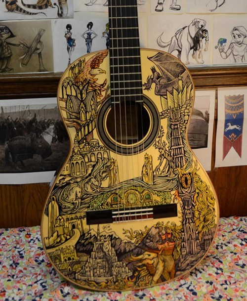 Play a Tolkien Ballad on This LOTR-Inspired Guitar
