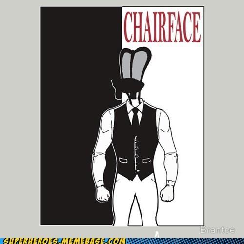 art scarface chairface - 7413154304