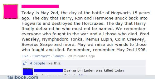 Harry Potter Osama Bin Laden failbook - 7413882880
