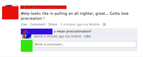 procrastination,procreation,all nighter