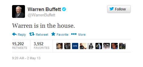 twitter warren buffet joins twitter Warren Buffet warren is in the house - 7414423808