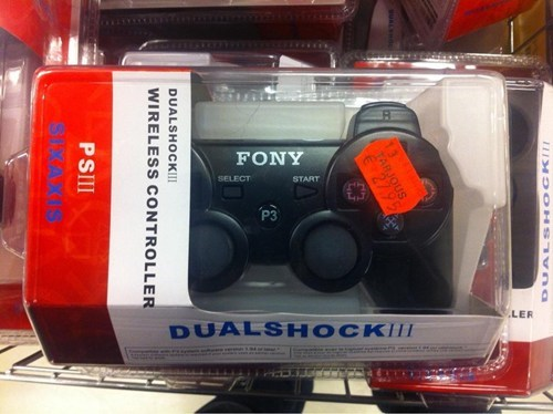 knockoff - Electronic device - FONY SELECT START LER DUALSHOCK DUALSHOCK!! WIRELESS CONTROLLER PSIII