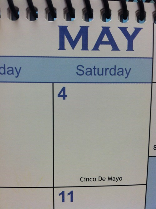 calendar so close cinco de mayo