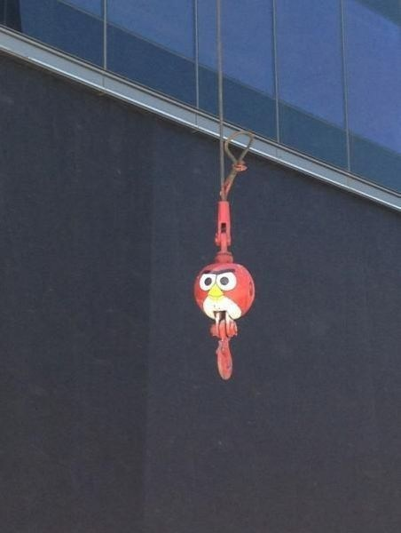 angry birds casual games IRL wrecking ball - 7414827008