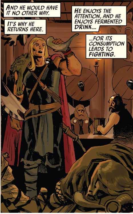 Thor comics off the page Party asgard - 7414890752