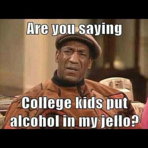 bill cosby,confused,jello shots