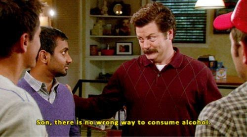 Parks & Recreation alcohol ron swanson - 7414953472