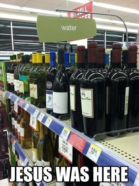 jesus water sunday wine - 7414962176