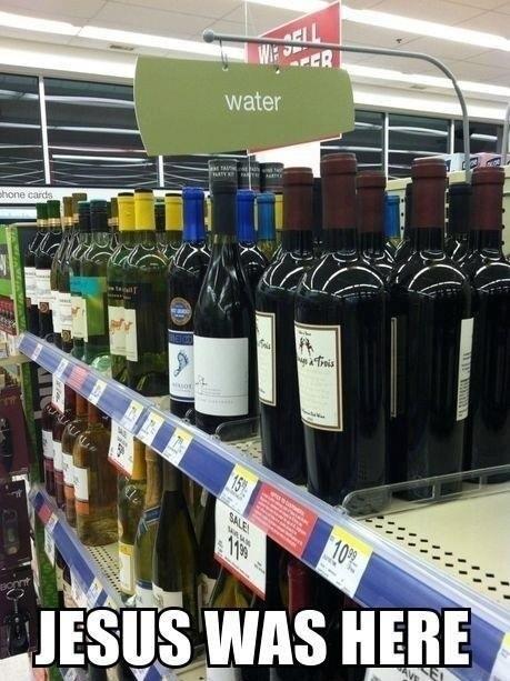 jesus water sunday wine - 7414962176