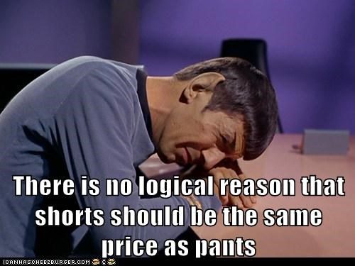 shorts Spock Star Trek logic - 7415481600