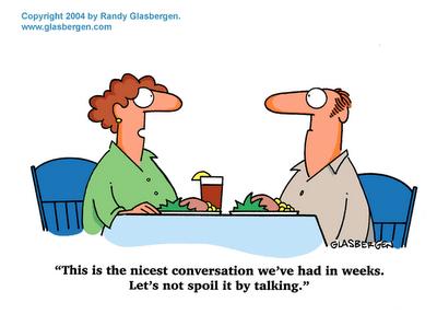 silence,conversation,dinner