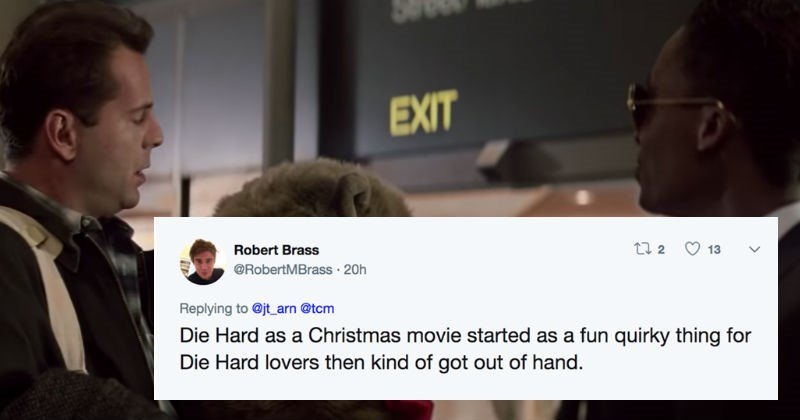 christmas twitter debate movies social media die hard funny holidays - 7415557