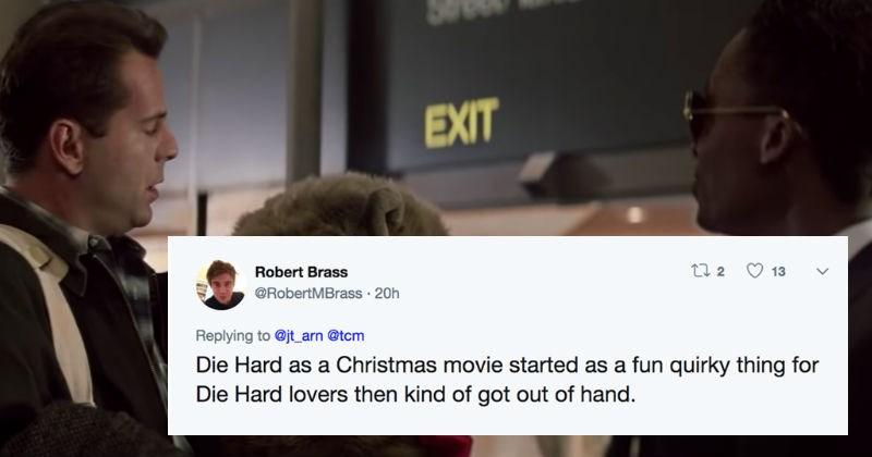 christmas twitter debate movies social media die hard funny holidays - 7415557