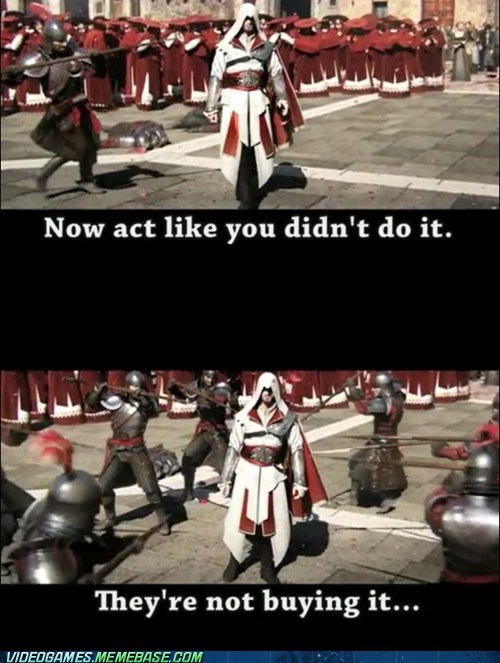 guards assassins creed hiding funny - 7417622784