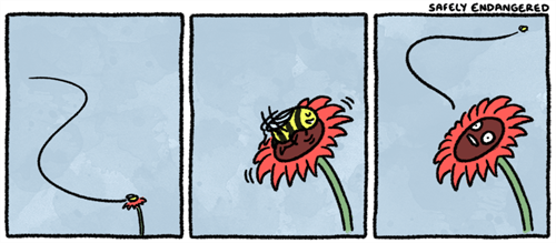 spring,comics,bees,flowers