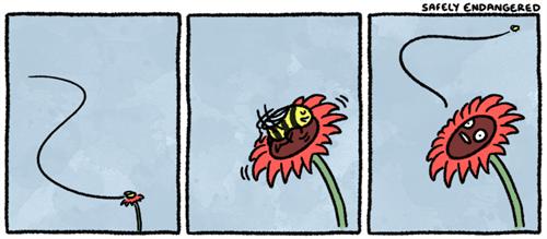 spring comics bees flowers - 7419581952