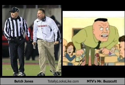 beavis and butthead,mr-buzzcutt,totally looks like,butch jones