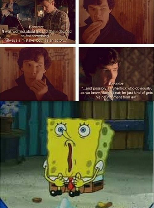 benedict cumberbatch Sherlock SpongeBob SquarePants funny - 7420336896