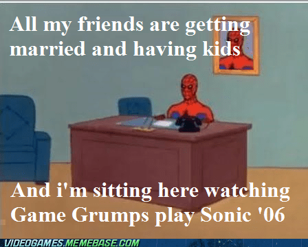 game grumps Memes 60s spider-man sonic funny - 7420474368