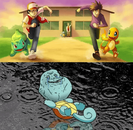 forever alone starters charmander squirtle bulbasuar funny - 7420612608