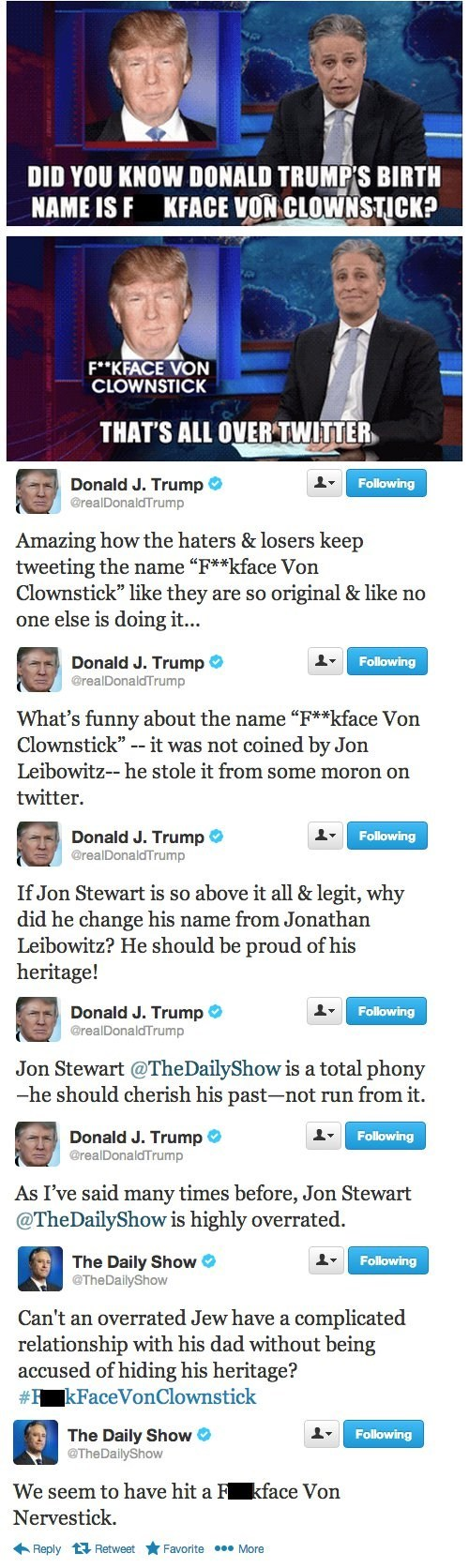 twitter donald trump jon stewart joke - 7421086976