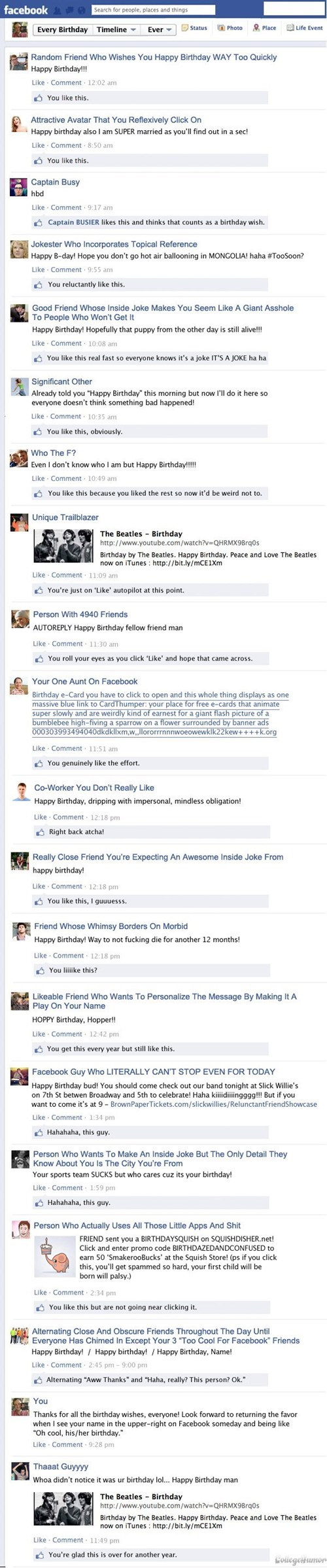 birthdays,wishing happy birthday,college humor,happy birthday,failbook