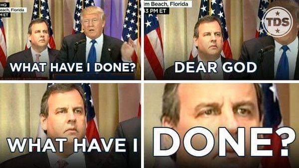 Chris Christie list donald trump Memes - 742149