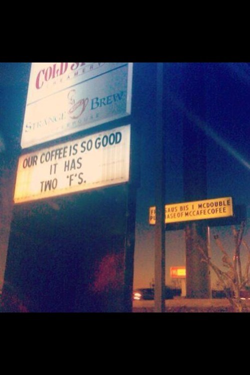 sign marketing clever coffee spelling business g rated win - 7421611008
