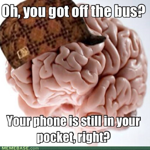 cell phones,scumbag brain,public transportation